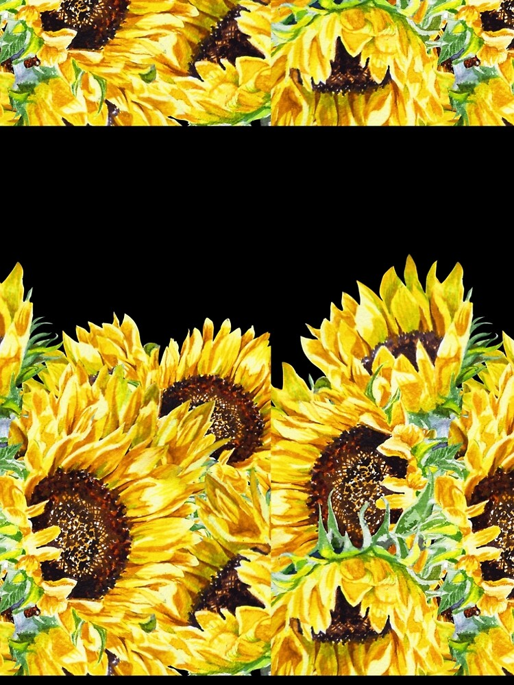 Sunny Flowers Sunflowers Watercolor by IrinaSztukowski