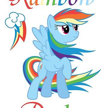 Rainbow Dash T-Shirt by Fluttershy1989
