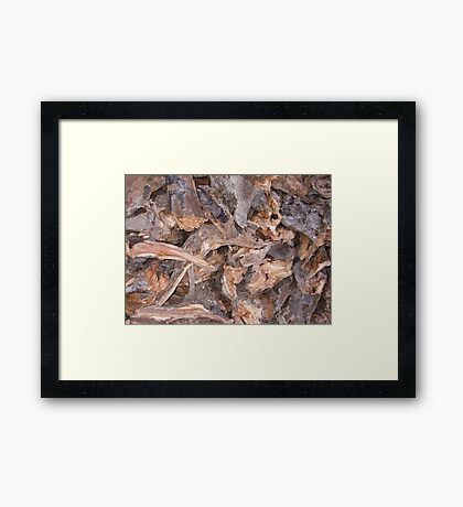 Woodpile in Winter Framed Print