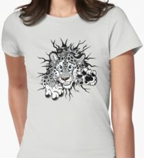 STUCK Snow Leopard (black paw pads) T-Shirt