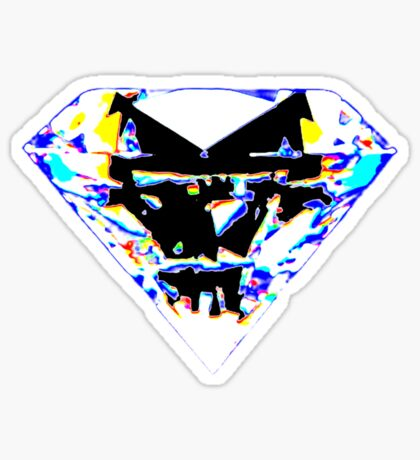 diamond t-shirt Sticker