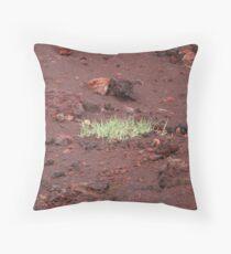 Grass grows anywhere Throw Pillow