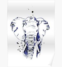 Der blaue Elefant Poster