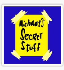 Michael's Secret Stuff - Space Jam Bottle  Sticker