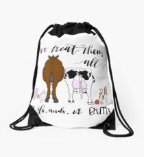 Veterinarians - no if ands or butts about it  Drawstring Bag