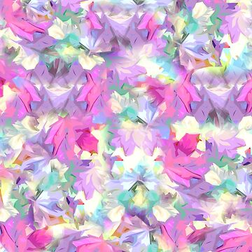 Pastel Leaves Abstract by Gravityx9