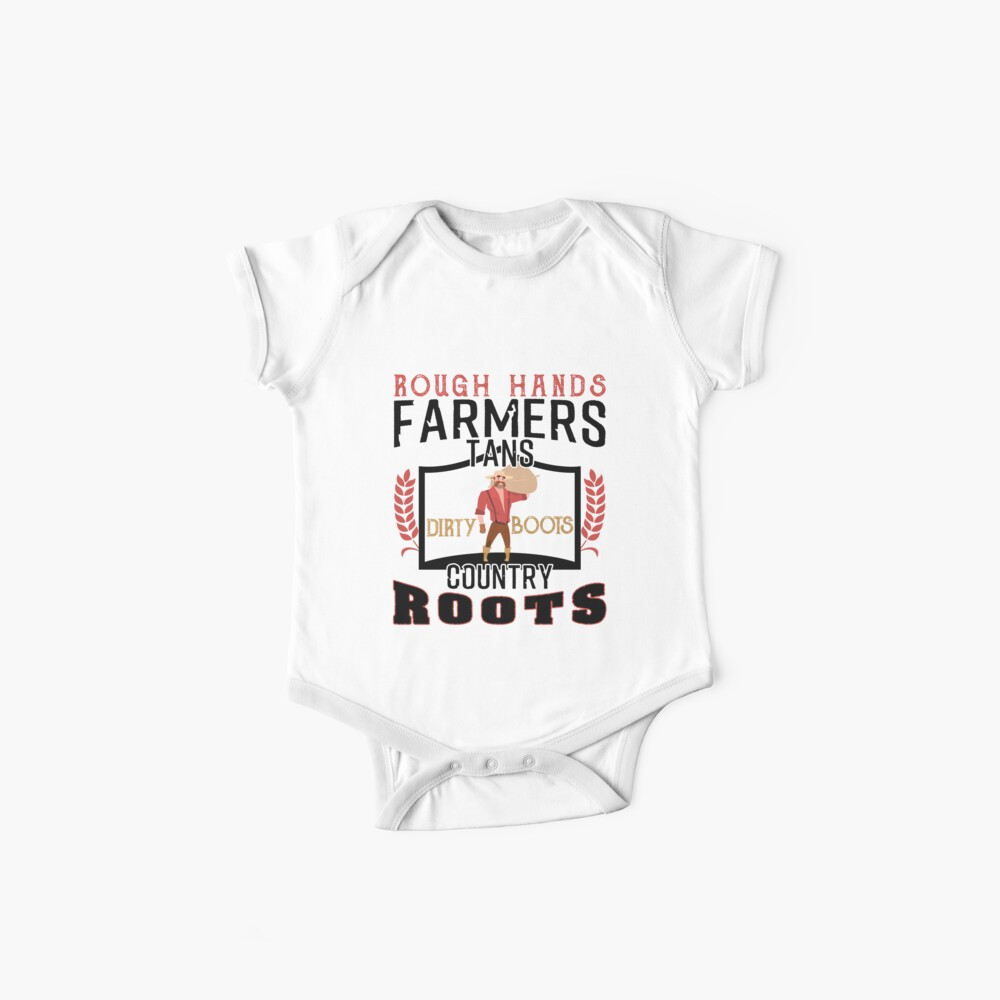Farmer Tractor Dirty Boots Baby Bodys