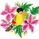 The pretty yellow bird by printmesomecolo
