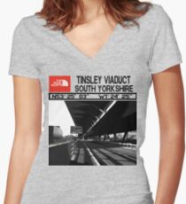 The Real North-Tinsley Viaduct South Yorkshire  Fitted V-Neck T-Shirt