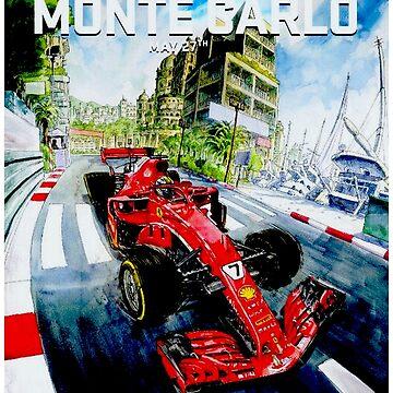 MONACO: Grand Prix Monte Carlo Autorennen Werbedruck von posterbobs