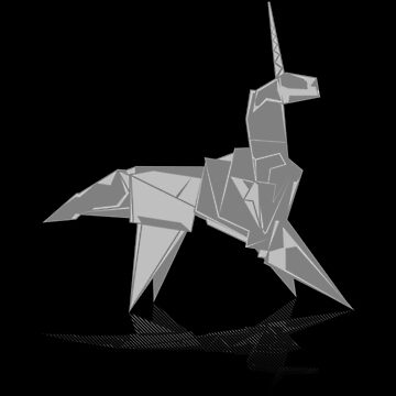 Origami Unicorn by synaptyx