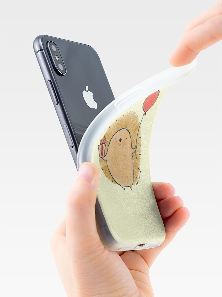 Alternate view of Happy Birthday Hedgehog iPhone Case & Cover