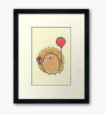 Happy Birthday Hedgehog Framed Print