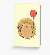 Happy Birthday Hedgehog Greeting Card