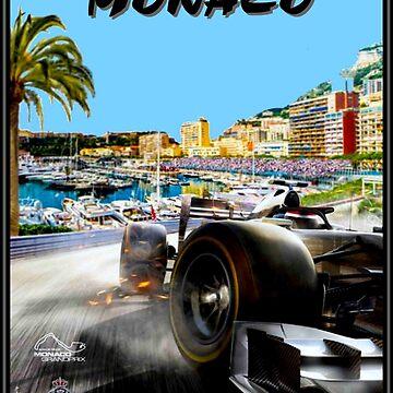 MONACO: Grand Prix-Oldtimer-Rennsport-Werbedruck von posterbobs