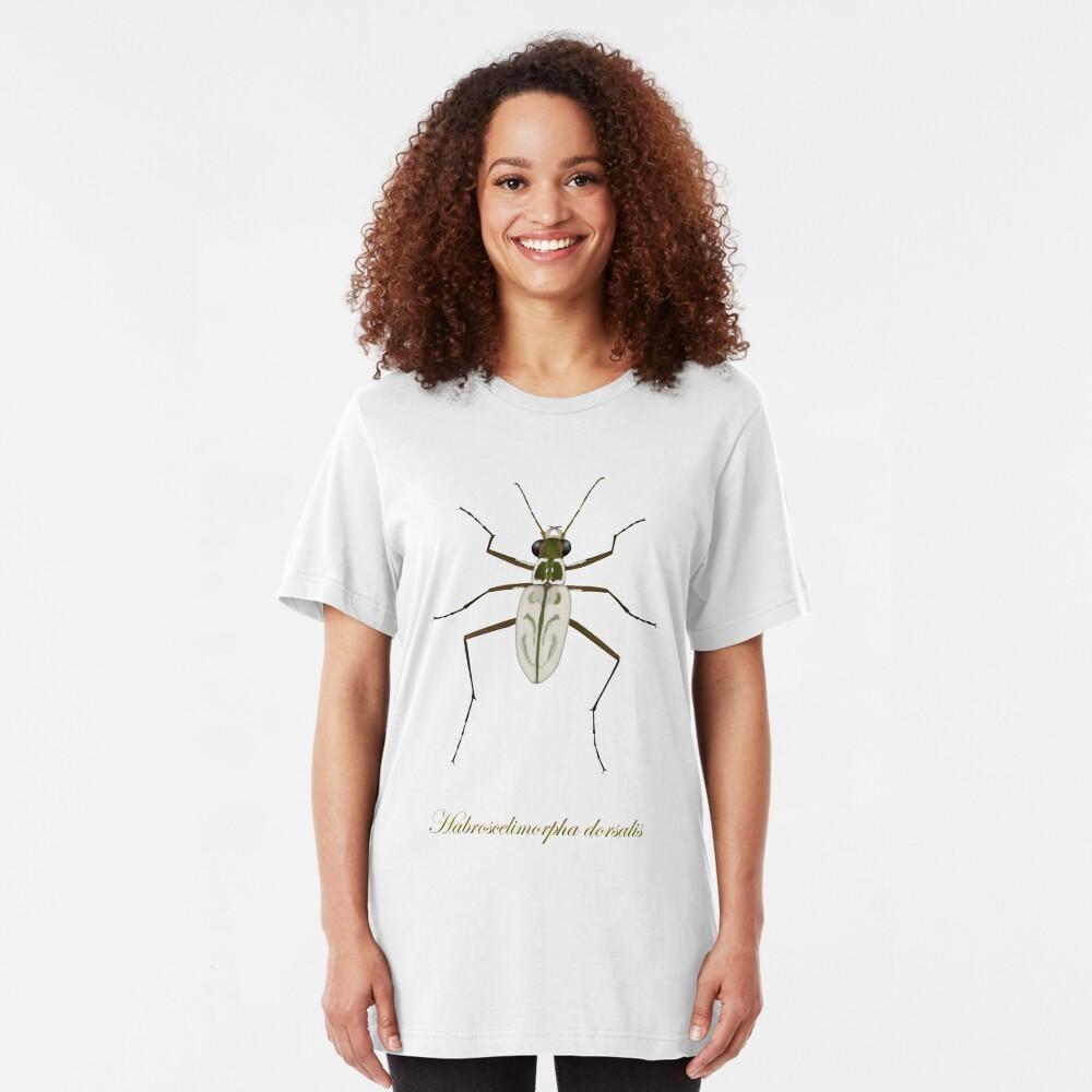 Northeastern Beach tiger beetle, Habroscelimorpha dorsalis Slim Fit T-Shirt
