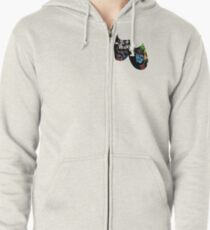 Theatre Masks Collage Zipped Hoodie