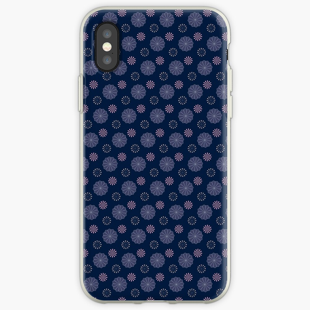 Pink and Purple Flowers at Night iPhone Cases & Covers