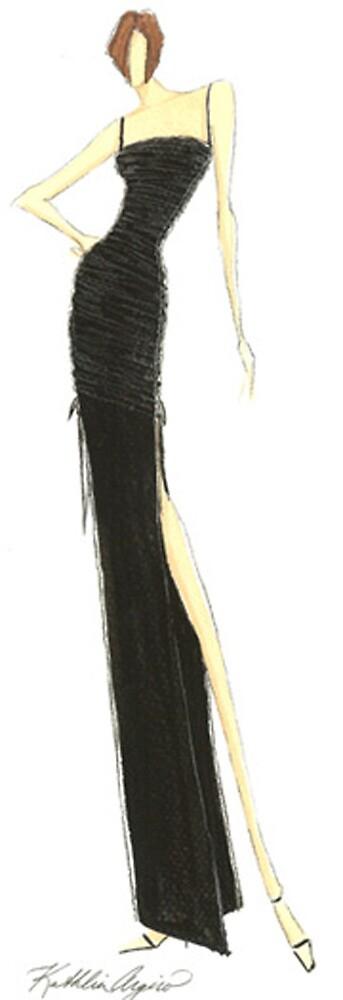 Sleek Fashion Sketch in Black by Kathlin Argiro