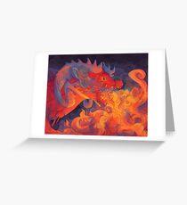 firey dragon Greeting Card
