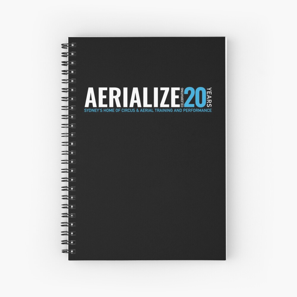 Aerialize Official 20th anniversary Merchandise Spiral Notebook