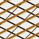 Deco Stripes Brown by Eric Pauker