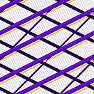 Deco Stripes Purple by Eric Pauker