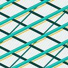Deco Stripes Turqoise by Eric Pauker