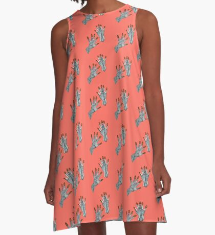 hands on living coral A-Line Dress