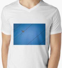 bird on a wire Mens V-Neck T-Shirt