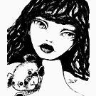 Beary Sweet - Black & White Version by LittleMissTyne