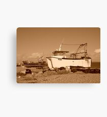 Dungeness boats, England Canvas Print