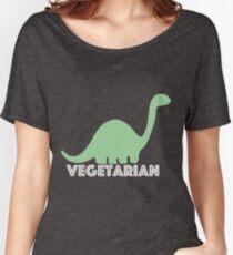 Vegetarian Dinosaur Logo Women's Relaxed Fit T-Shirt