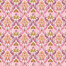 Blumeneleganz-Damast-Entwurf von Alondra