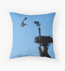 Sea Eagles Throw Pillow
