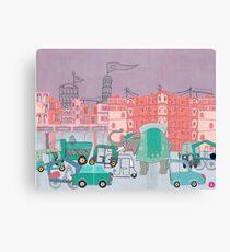 Jaipur - Eine Postkarte aus Indien Leinwanddruck