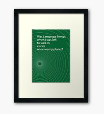 Hitchhikers' circle Framed Print