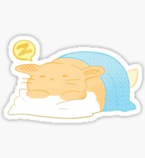 Orange Comic Hase Sticker
