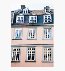 Pink Building Facade Photographic Print