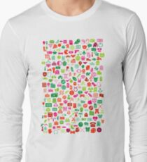 Iconography in White Long Sleeve T-Shirt