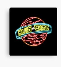 Neon Blips and Chits Logo Canvas Print