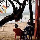 Chilling on Kuta Beach, Bali by Ashlee Betteridge