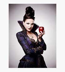 Regina Mills as The Evil Queen with apple Photographic Print