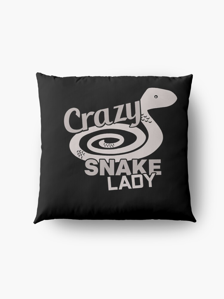 Alternate view of Crazy Snake Lady Floor Pillow