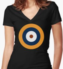 British Roundel WW2 Women's Fitted V-Neck T-Shirt