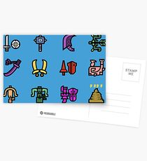 Monster Hunter Weapon Icons Postcards