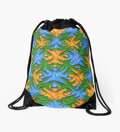 Frozen chanterelles #DeepDream #Art Drawstring Bag