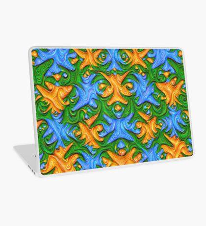 Frozen chanterelles #DeepDream #Art Laptop Skin