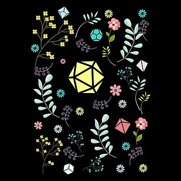 Set de flores y dados de pixeptional
