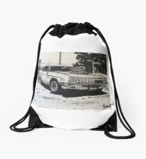 Supercharged car Drawstring Bag